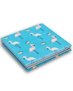 Espelho de Bolsa Quadrado Boby Blues - Flamingo