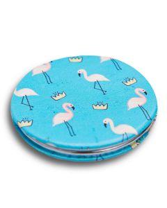 Espelho de Bolsa Redondo - Flamingo