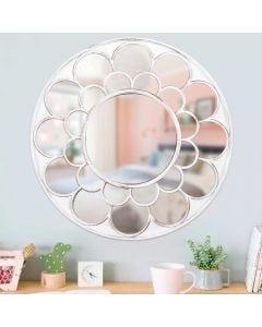 Espelho Trabalhado Floreale 45,8cm Solecasa - Branco