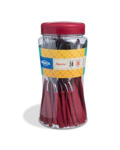Faqueiro 24 peças Itaparica Brinox - Vermelho