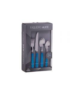 Faqueiro Alice 24 Peças Finecasa - Azul