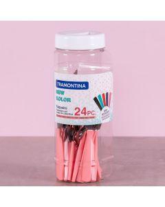 Faqueiro New Kolor 24 Peças Tramontina - Rosa