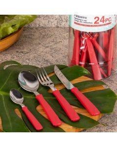 Faqueiro New Kolor 24 Peças Tramontina - Vermelho