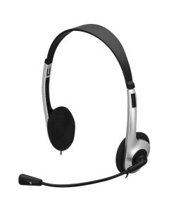 Fone de Ouvido com Microfone Fortrek HBL101 - Prata/Preto