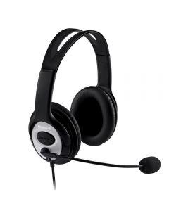 Fone de Ouvido com Microfone LifeChat LX-3000 USB Microsoft - Preto