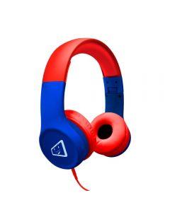 Fone de Ouvido Estéreo Infantil Spider ELG - Azul e Vermelho
