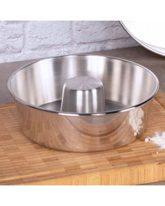 Forma Canudo Polida 20cm Fortaleza - Aluminio