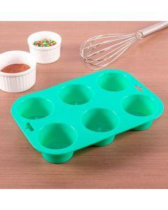 Forma de Cupcake em Silicone Solecasa - Colors