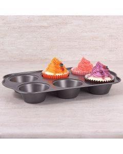 Forma de Cupcake 6 Unidades Solecasa - CINZA