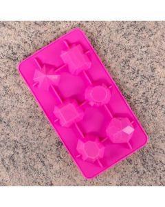 Forma De Gelo Geométrico Finecasa - Rosa