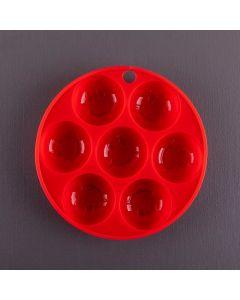 Forma de Silicone para Chocolate em Carinhas Finecasa - Vermelho