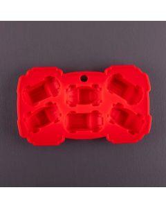 Forma de Silicone para Chocolate em Carros Finecasa - Vermelho