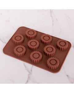 Forma de Silicone para Chocolate Trabalhada Solecasa - Marrom