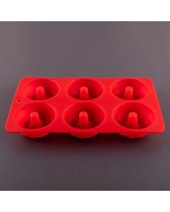 Forma de Silicone para Donut Finecasa - Vermelho