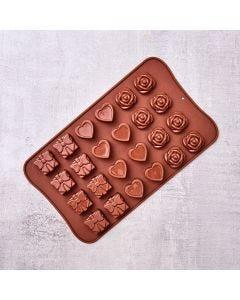 Forma para Chocolate em Silicone Solecasa - Marrom