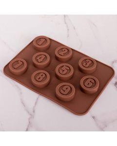 Forma para Chocolate Números Solecasa - Marrom