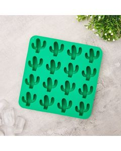 Forma para Gelo Silicone Cactos Solecasa - Verde