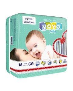 Fralda Descartável Pacotão Econômico GG 18 peças - Diversos