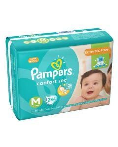 Fralda Pampers Pacotão Confort Sec Tamanho M 24 unidades - DIVERSOS