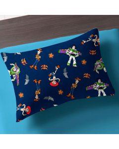 Fronha 48x48cm Estampa Corrida Toy Story - Woody e Buzz Azul
