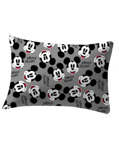 Fronha 48x68 Estampa Corrida Disney Havan - Mickey Black And White