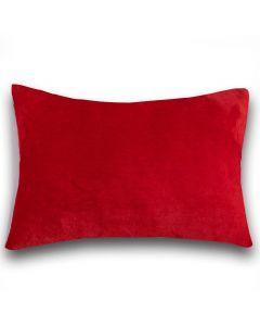 Fronha Avulsa 50cm x 70cm 100% Poliéster Plush Yaris - Vermelho Pompeia