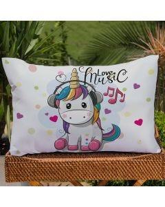 Fronha Avulsa Estampa Digital Decore  - Unicornio