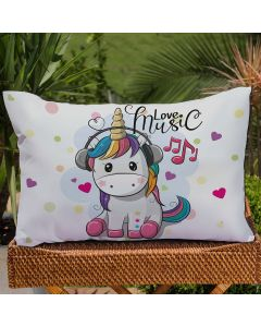 Fronha Avulsa Estampa Digital Decore  - Unicornio
