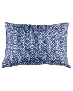 Fronha Avulsa Estampada 150 Fios Solecasa - Silver Azul