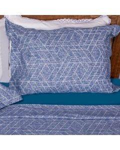 Fronha Avulsa Percal 200 Fios Buona Fortuna - Denin Azul