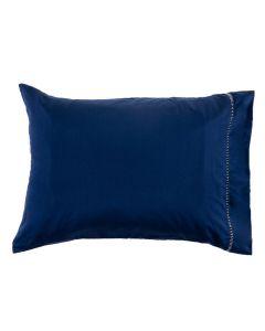 Fronha Avulsa Ponto Palito Premium Solecasa - Azul Profundo