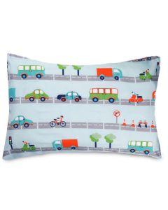 Fronha Kids Avulsa Microfibra Yoyo Kids - Transportes Verde