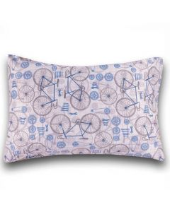 Fronha Kids Avulsa Microfibra Yoyo Kids - Bicicleta Azul
