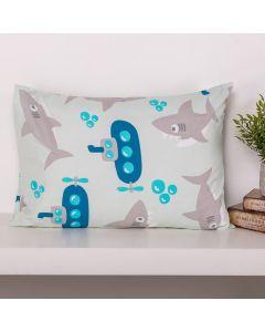 Fronha Microfibra Estampada Kids 50x70cm - Tubarão