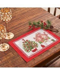 Fundo de Prato Natal Karsten - Tempo de Apreciar