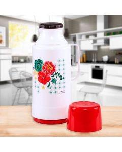 Garrafa Térmica Glt 1 Litro Decorada Invicta - Vermelho Floral