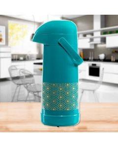 Garrafa Térmica 1 Litro Magic Pump Termolar - Verde