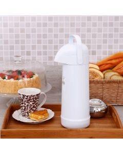 Garrafa Térmica 1 Litro Magic Pump Termolar - Branca