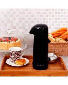 Garrafa Térmica 1 Litro Magic Pump Termolar - Preta