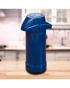 Garrafa Térmica GLT Pressão Lisa 1 Litro Invicta - Azul