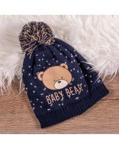 Gorro de 3 à 9 Meses Urso Baby - Indigo