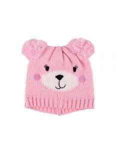 Gorro De 3 A 9 Meses Urso Yoyo Baby - Rosa