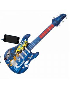 Guitarra Infantil Hot Wheels Azul Fun - 8424-4