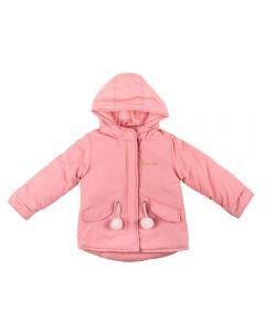 Jaqueta de 1 a 3 Anos com Pompom Yoyo Kids Rosa Blush