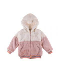 Jaqueta de 1 a 3 Anos de Pelinhos Fakini Marfim E Rosa