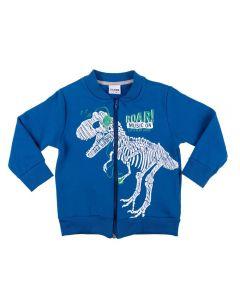 Jaqueta de 1 a 3 Anos Moletom Dino Fakini Azul