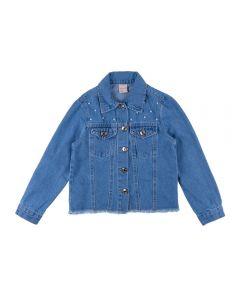 Jaqueta de 4 a 10 Anos com Pérolas Marmelada Jeans
