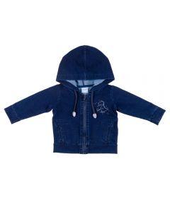 Jaqueta de Bebê Jeans Dino Yoyo Baby Azul