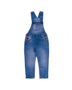 Jardineira Jeans de 1 a 3 Anos Yoyo Kids Azul