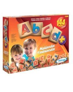 Jogo ABC Maiúsculas e Minúsculas 144 peças Xalingo - VERMELHO
